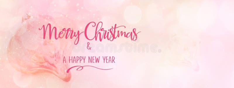 Roze Kerstmissnuisterij tegen een abstracte achtergrond vector illustratie