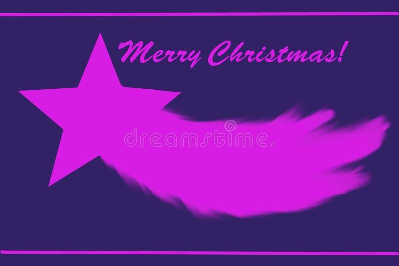 Roze Kerstmisster vector illustratie