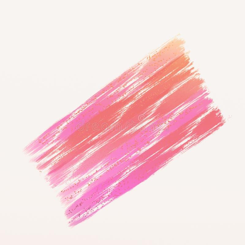 Roze Kleurenmonsters met grungy gevolgen De achtergrond van de Grungeoppervlakte stock illustratie
