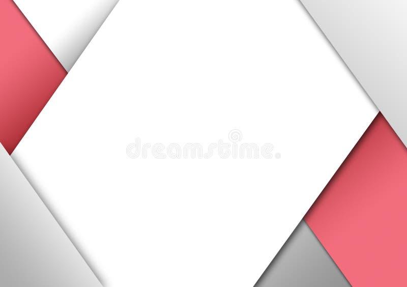 Roze knipsel geweven ontwerp als achtergrond voor behang stock illustratie