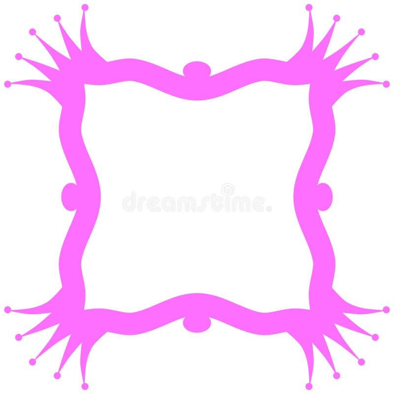 Roze Koningin Frame Border Invitation Card royalty-vrije illustratie