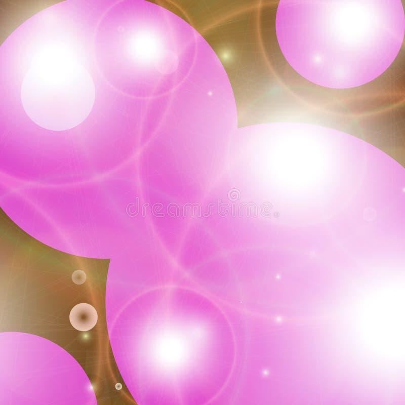 Roze Kosmos vector illustratie