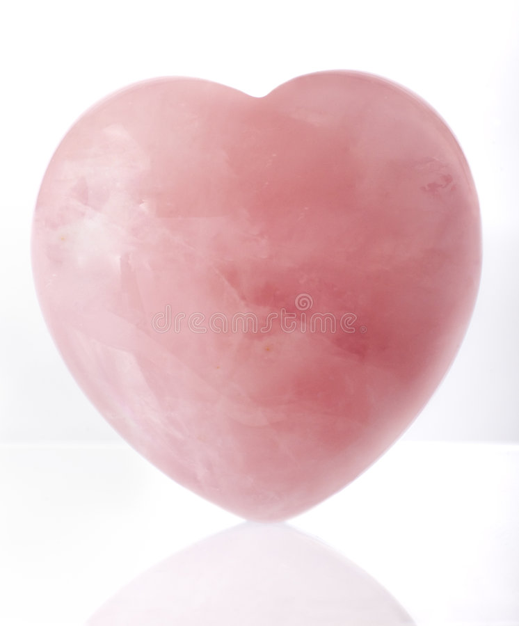 Roze kristalhart royalty-vrije stock afbeeldingen