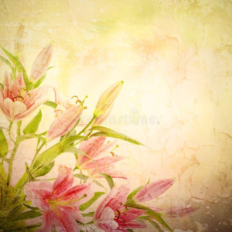 Roze leliesachtergrond royalty-vrije illustratie