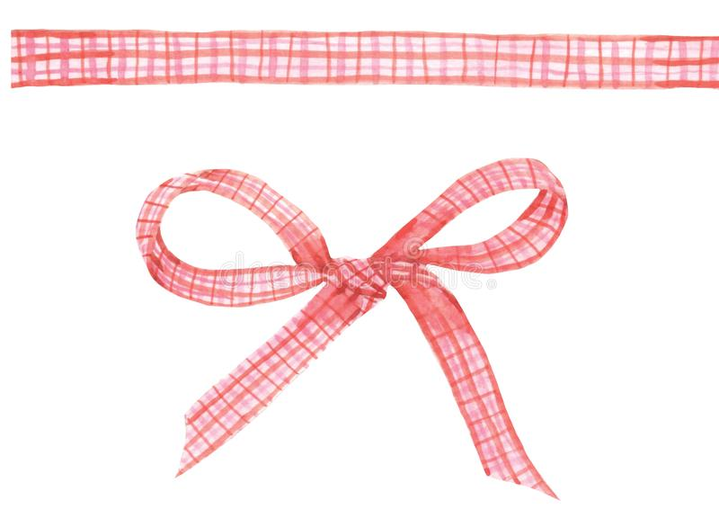 Roze lint royalty-vrije illustratie