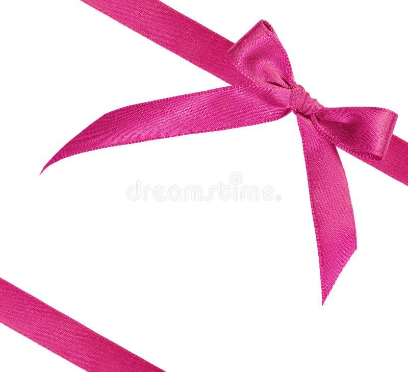 Roze lint op witte achtergrond royalty-vrije stock afbeelding