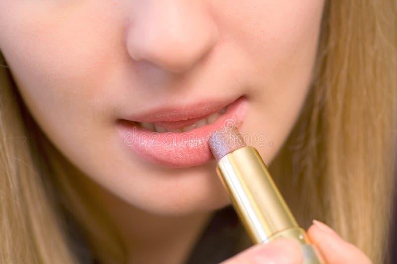 Roze lippenstift royalty-vrije stock afbeelding
