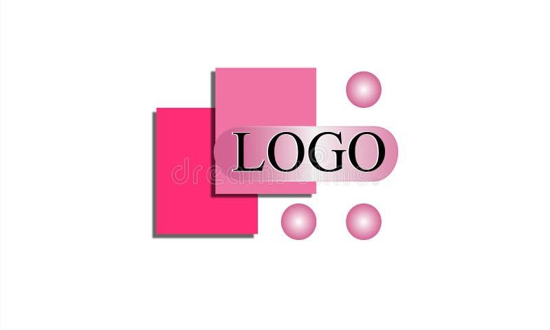 Roze Logo Design vector illustratie