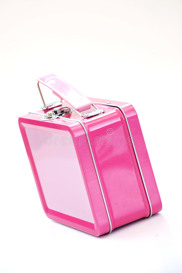 Roze lunchbox stock foto