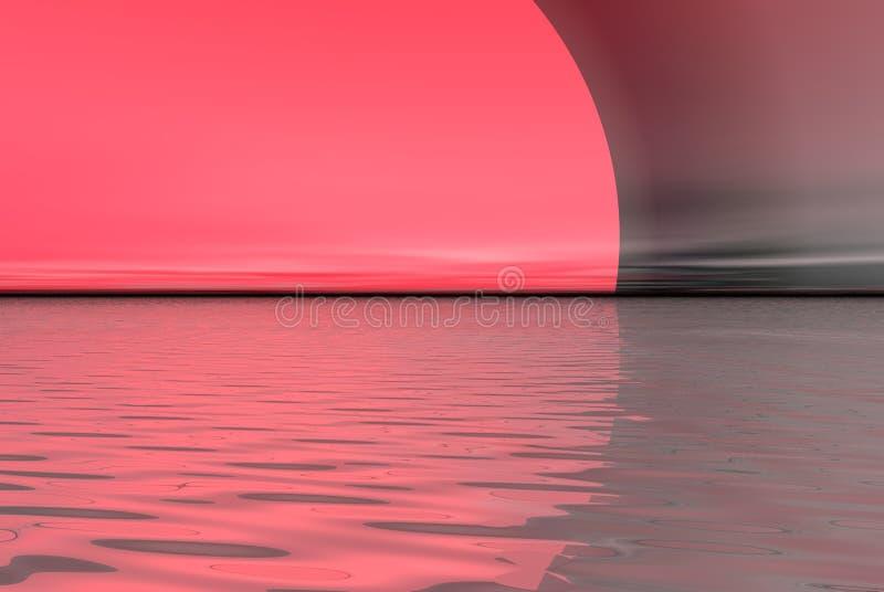 Roze maan royalty-vrije illustratie