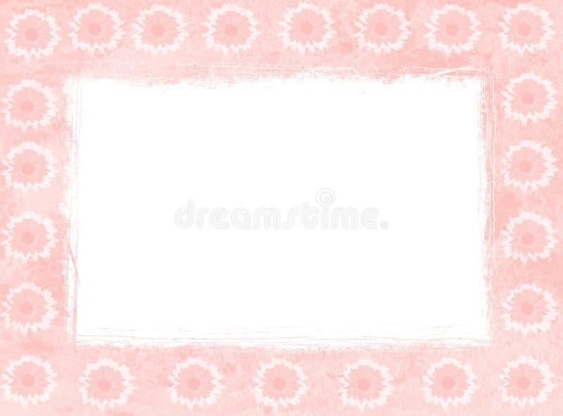 Roze madeliefjeframes royalty-vrije illustratie