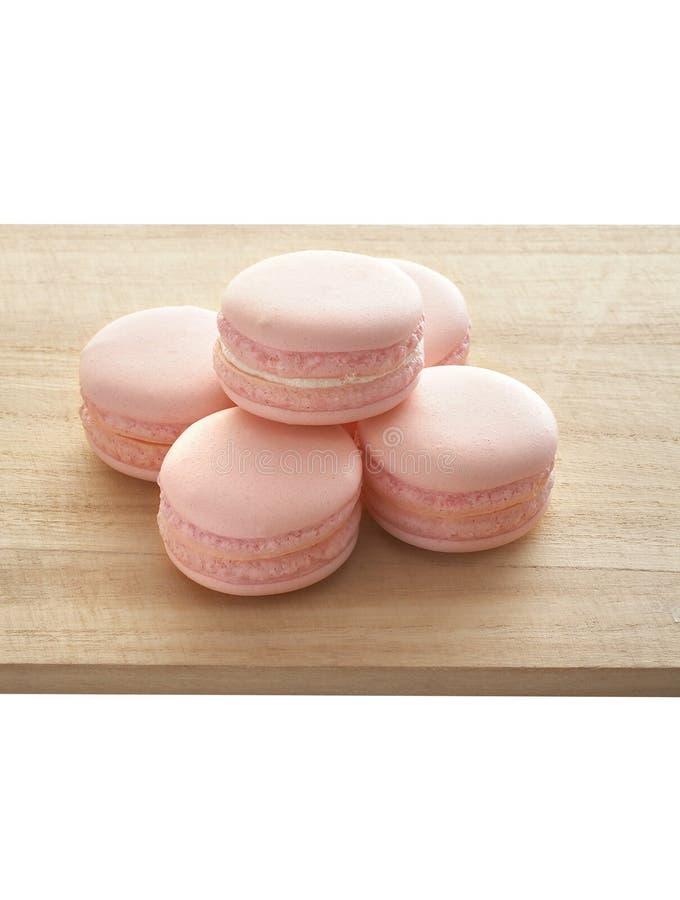 Roze makaron vijf stock afbeeldingen