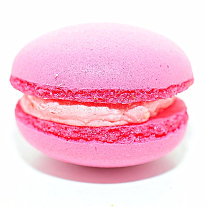 Roze makaronmacro - Frans dessert stock foto's