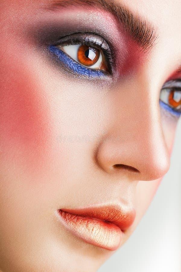 Roze make-up royalty-vrije stock foto