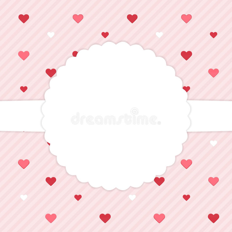Download Roze Malplaatjekaart Met Rode Harten Vector Illustratie - Illustratie bestaande uit decoratie, grens: 39105816