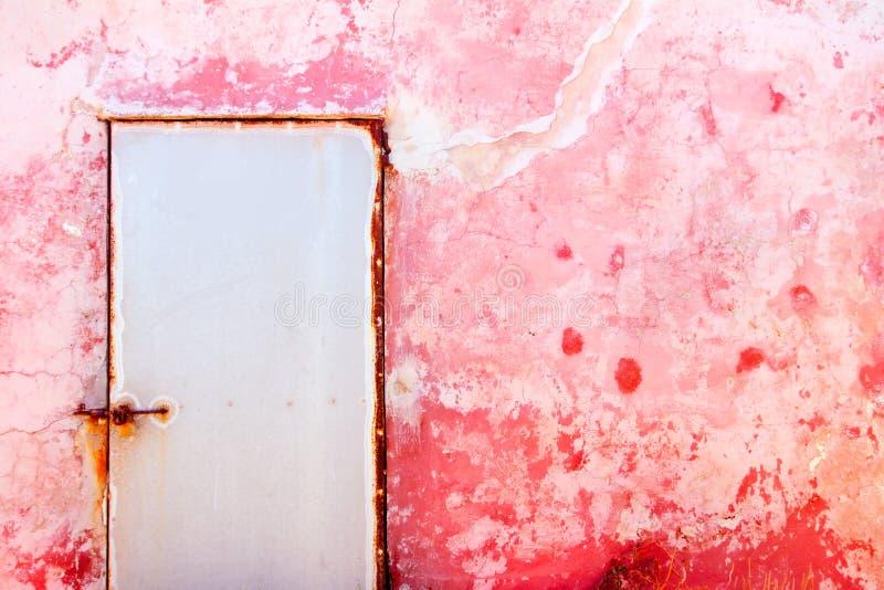 Roze mediterrane grunge wal textuur royalty-vrije stock foto