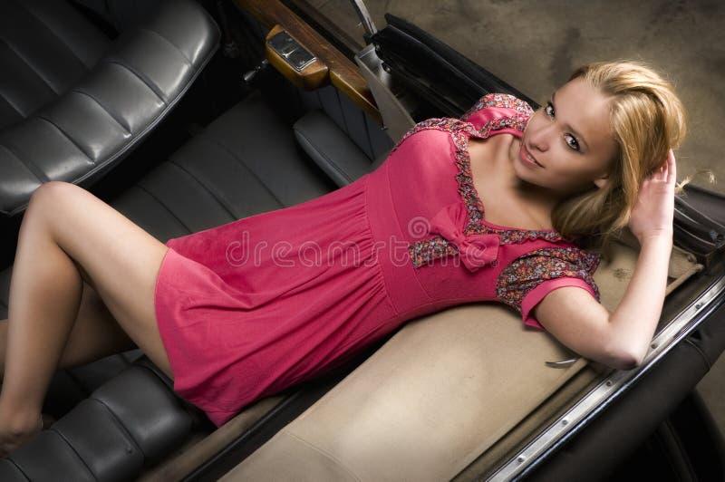 Roze meisje stock fotografie