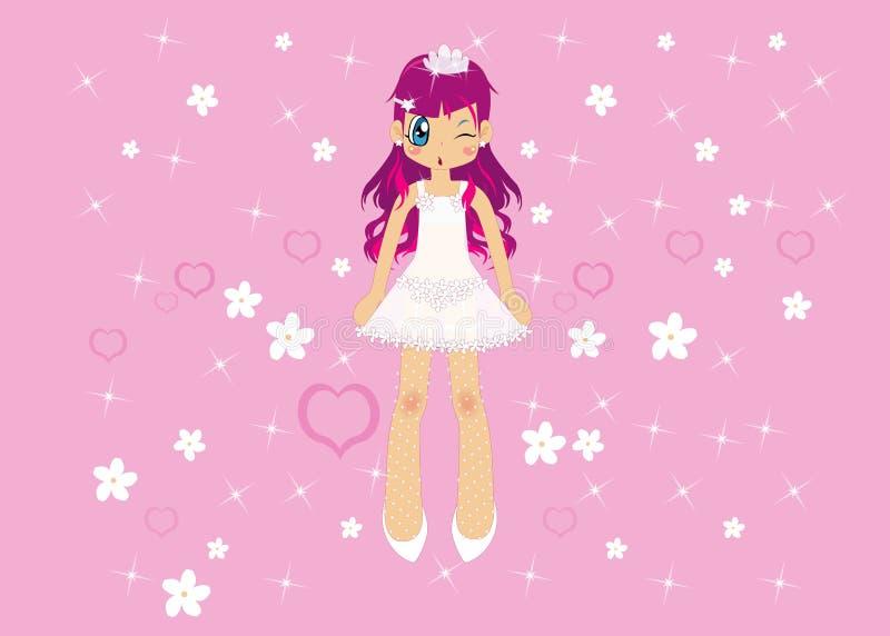 Roze meisje stock illustratie