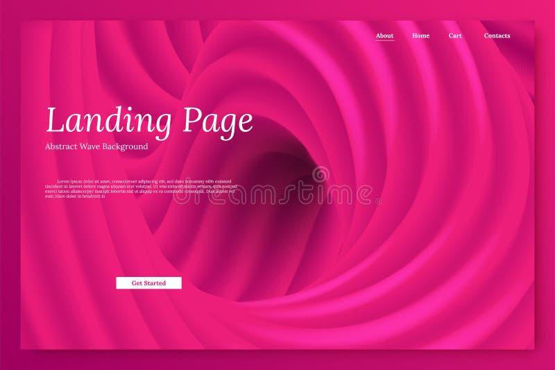 Roze minimalistic landingspaginamalplaatje royalty-vrije illustratie