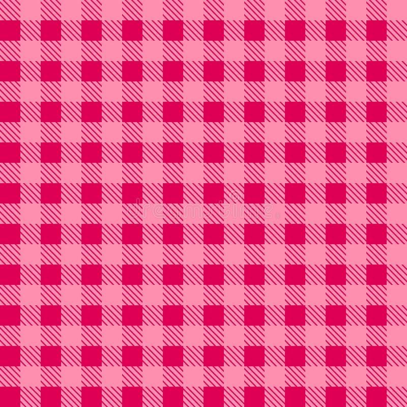 Roze modieuze patronentafelkleden een illustratieontwerp Geometrisch traditioneel ornament voor maniertextiel, doek, achtergronde stock illustratie