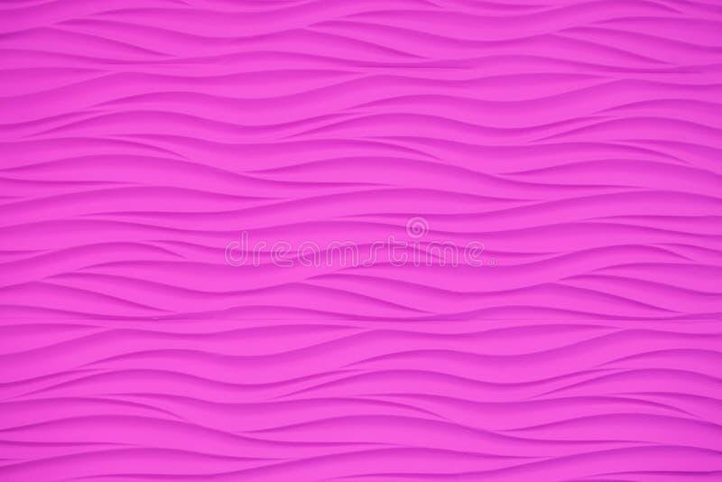 Roze muur met volumetrische golvende patronen stock afbeelding