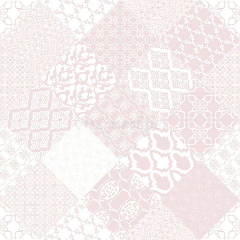 Roze naadloos patternwith oosters motief vector illustratie