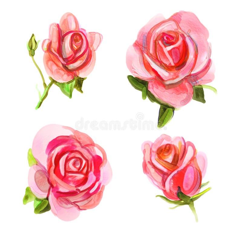 Roze nam toe vector illustratie