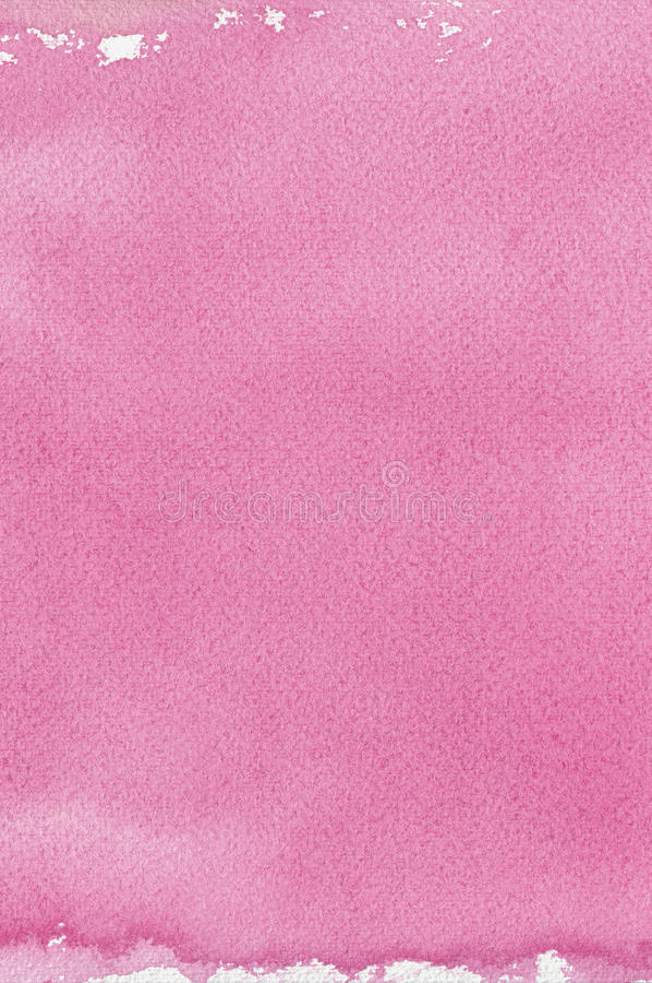 Roze natuurlijke met de hand gemaakte watercolouraquarelle het schilderen textuur, de verticale geweven waterverfdocument macroru stock afbeelding