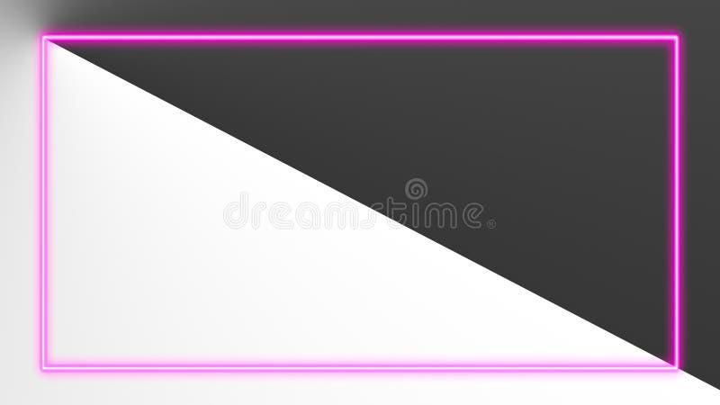 Roze neonlichten met veel exemplaarruimte voor tekst of productvertoning vector illustratie