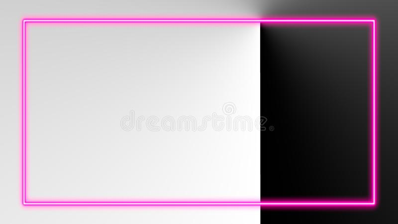 Roze neonlichten met veel exemplaarruimte voor tekst of productvertoning royalty-vrije illustratie
