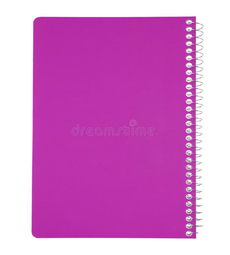 Roze notitieboekje dat op wit wordt geïsoleerdg royalty-vrije stock afbeelding