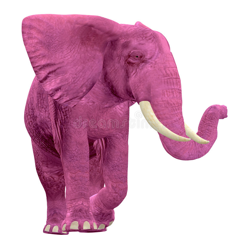 Roze Olifant - 03 stock illustratie