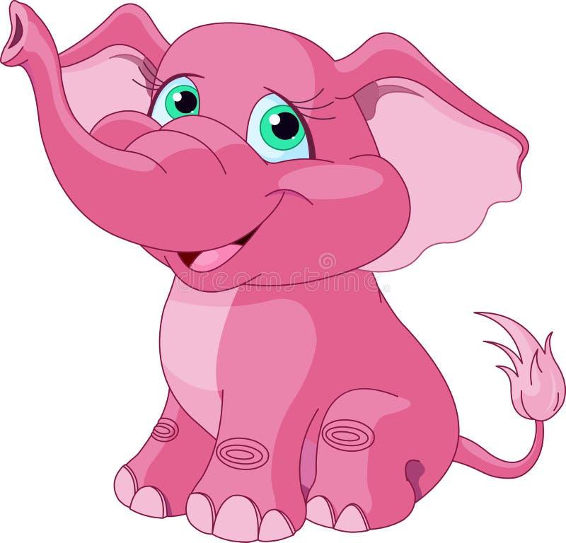 Roze olifant royalty-vrije illustratie