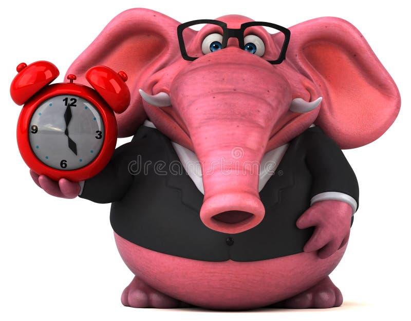 Roze olifant - 3D Illustratie vector illustratie