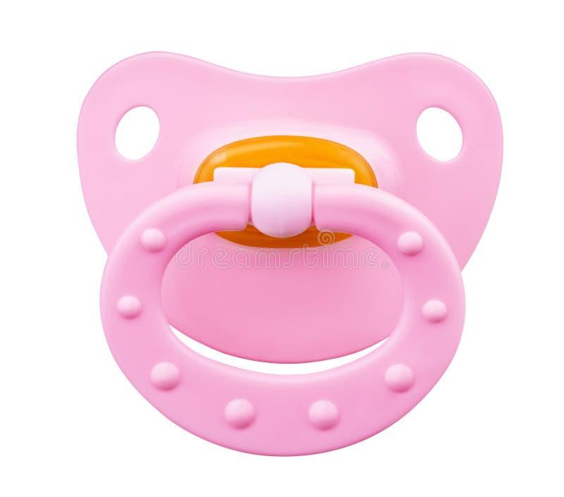 Roze orthodontische fopspeen stock foto's