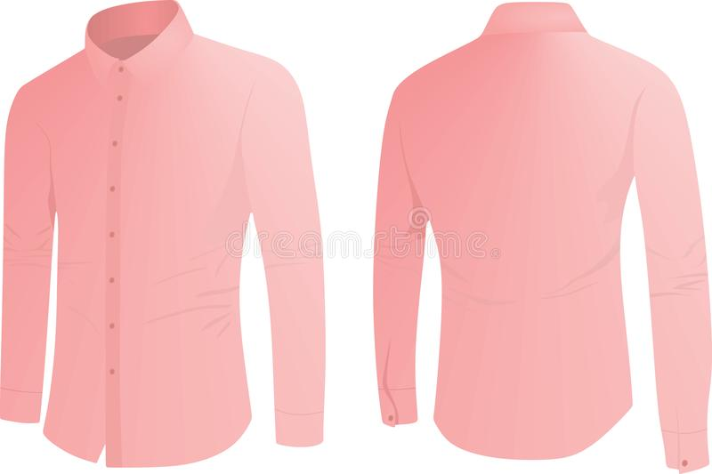 Roze overhemd, voor en achtermening vector illustratie