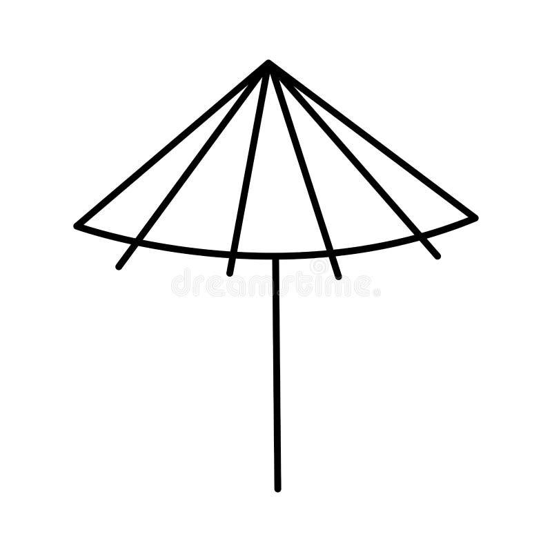 Roze paraplubeeldverhaal stock illustratie