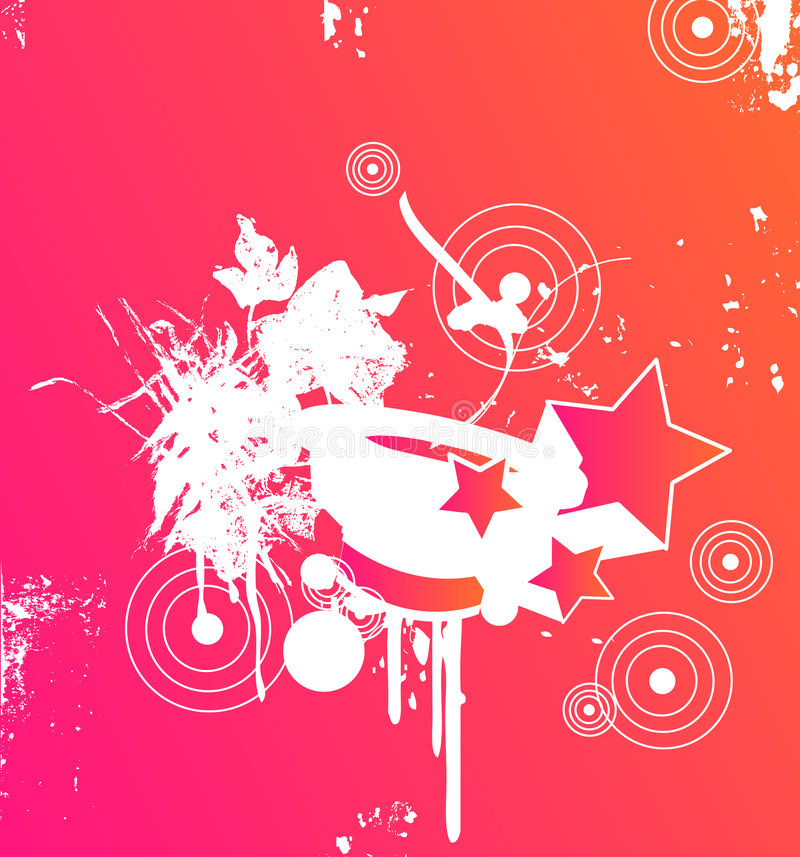 Roze partij royalty-vrije illustratie