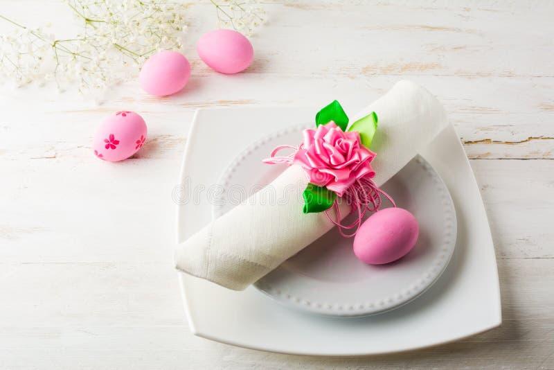 Roze Pasen-lijstplaats die hoogste mening plaatsen royalty-vrije stock fotografie