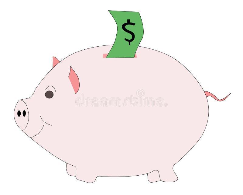Roze piggibank stock foto's