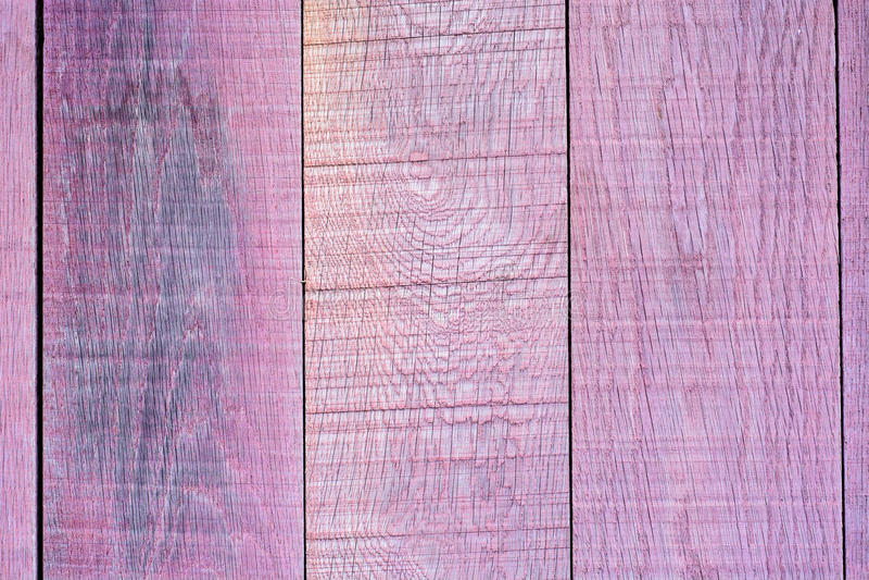 Roze planken houten omheining stock afbeelding
