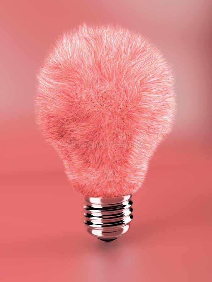 Roze pluizige lampbol royalty-vrije stock fotografie