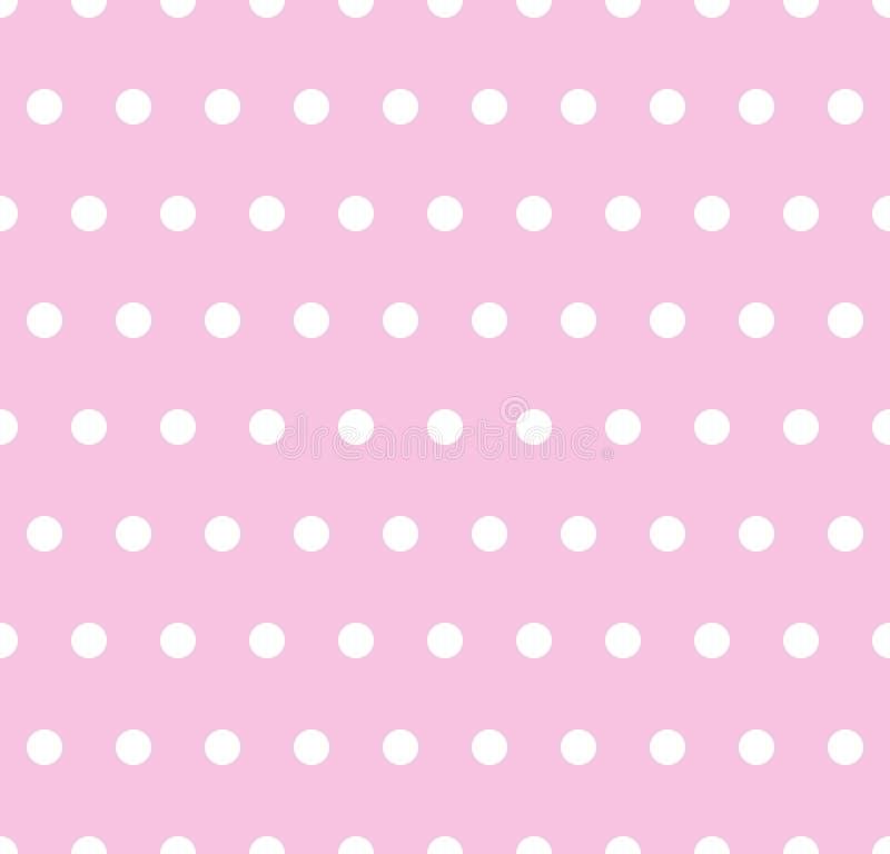 Roze polkaachtergrond stock illustratie