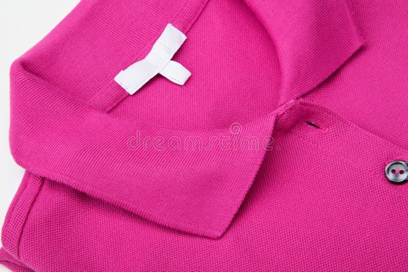 Roze polooverhemd stock fotografie