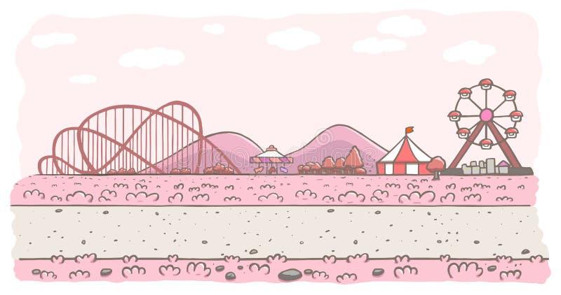 Roze pretparkachtergrond royalty-vrije illustratie