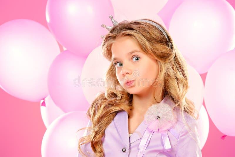 Roze prinses royalty-vrije stock fotografie