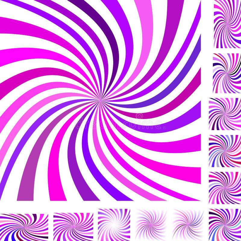 Roze purpere spiraalvormige reeks als achtergrond vector illustratie