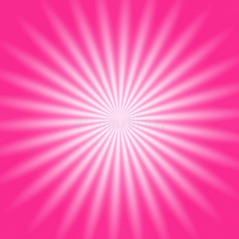 Roze radiale gloed vector illustratie