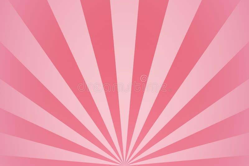 Roze radiale stralen en stralen abstracte girly achtergrond royalty-vrije illustratie