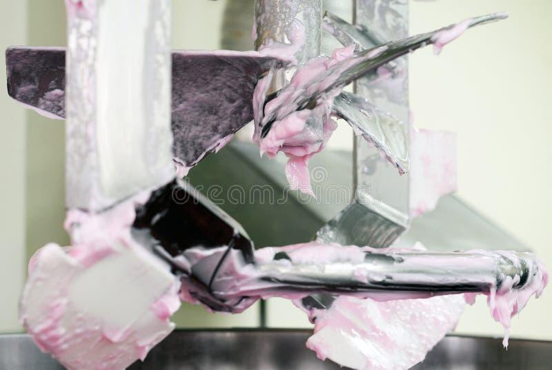 Roze roomwhit anker in machine royalty-vrije stock fotografie
